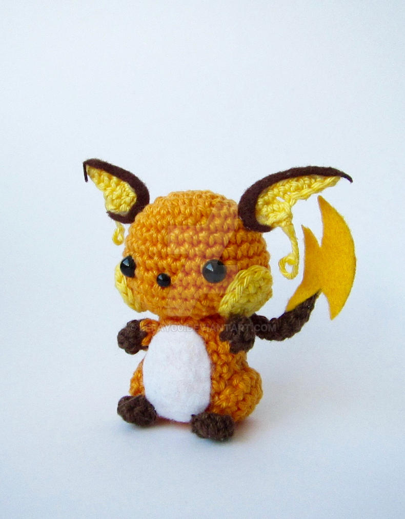 Chibi Pikachu Amigurumi : Chibi Raichu Amigurumi by LeFay00 on DeviantArt