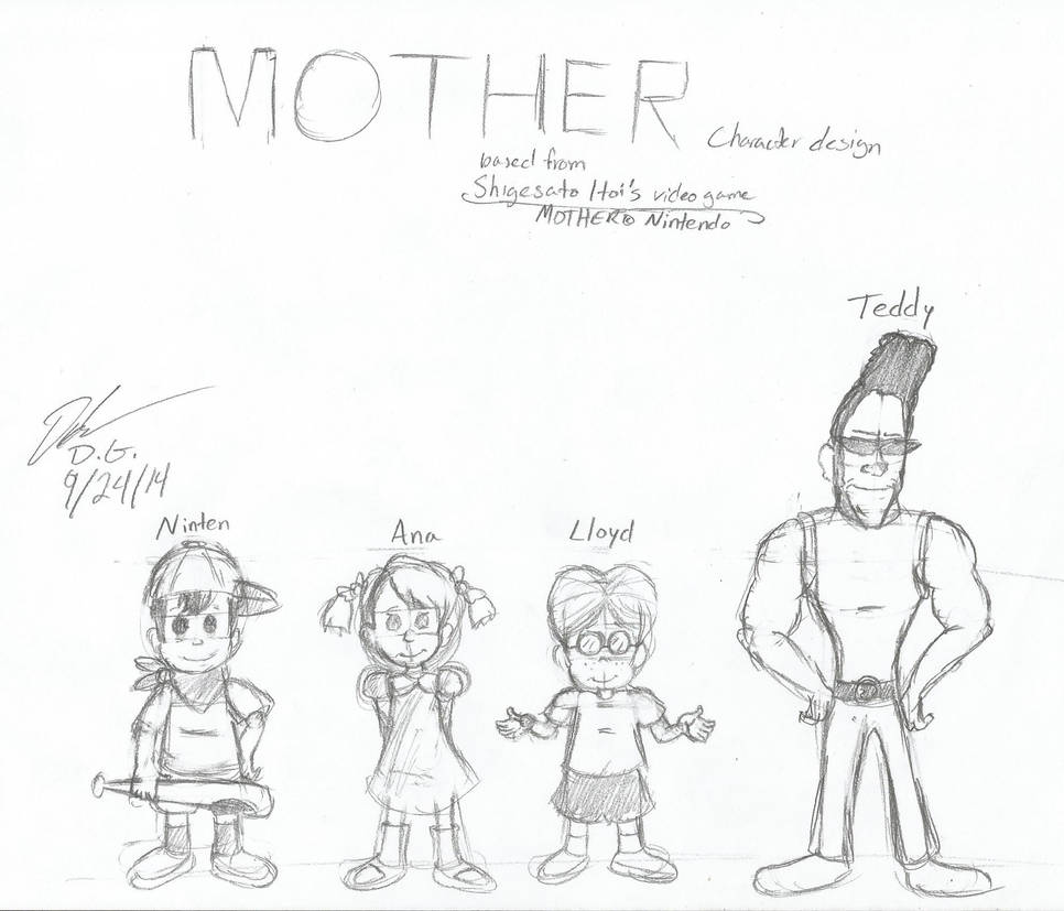 MOTHER 1 Concept and design characters by DGAnimation616 on DeviantArt
