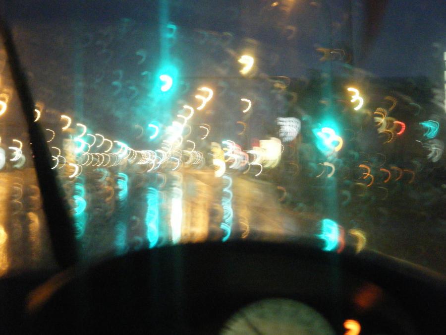 Rain Blurred Street Lights by neptunefish on DeviantArt  Rain Blurred St...