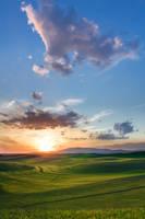 Palouse Sunset 4 by krovakny