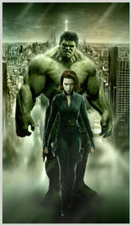 Hulk Widow Pin up by N8MA