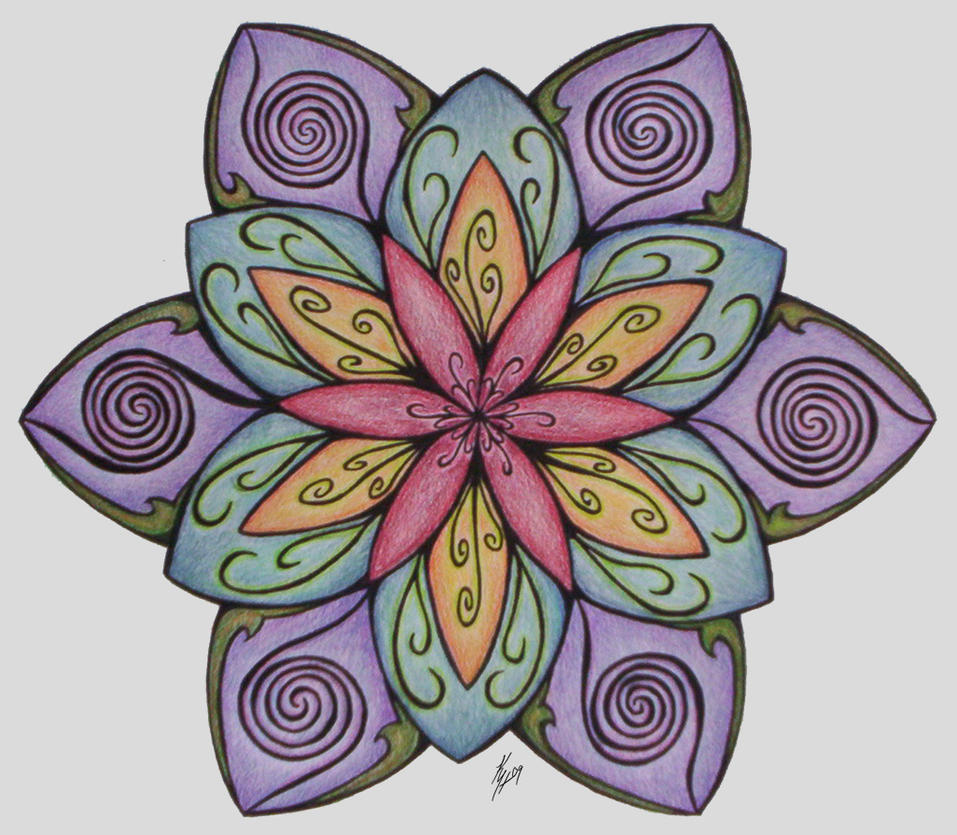 Flower Mandala By Higesblue On DeviantArt