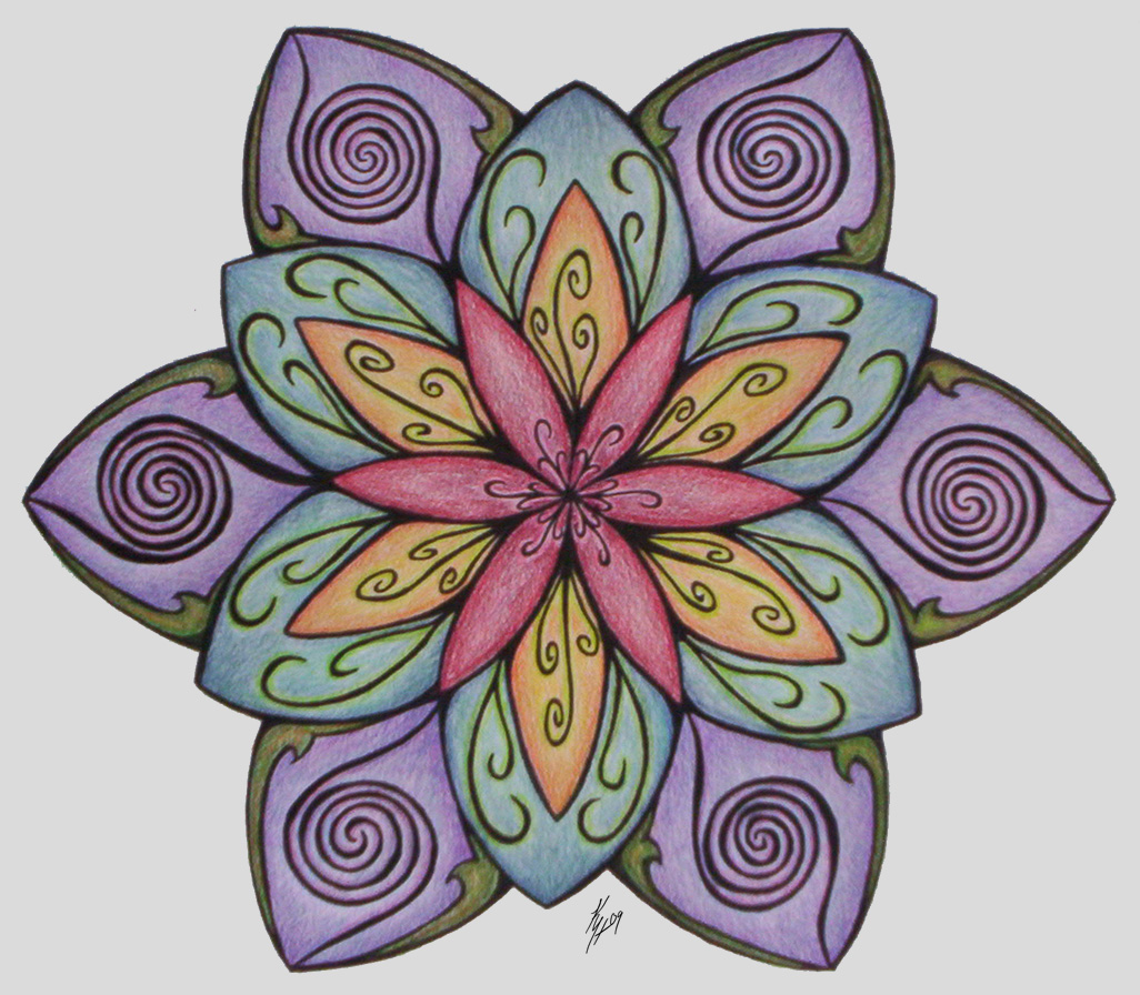 Flower Mandala By Higesblue On DeviantArt