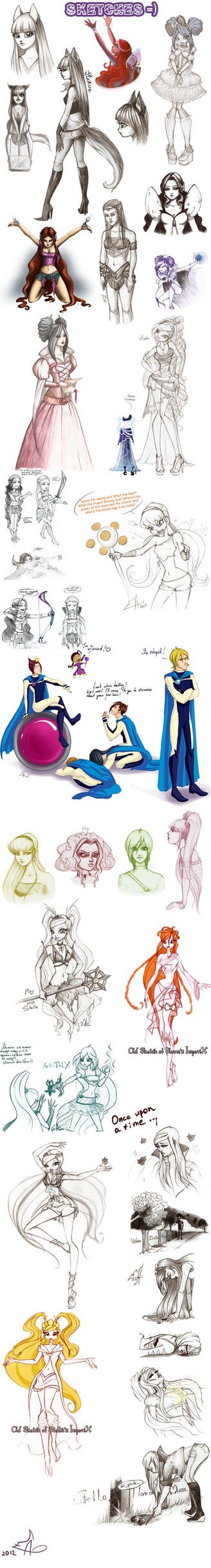 Dump and Sketches III by SunRiseEA