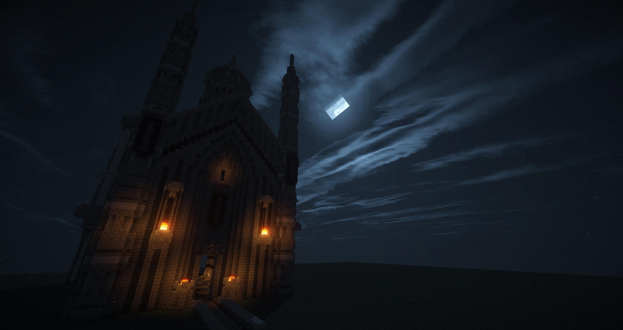 Wonderful Wallpaper Minecraft Night - minecraft_castle_at_night_computer_background_by_567legodude-d7h18ty  Picture_192374.jpg