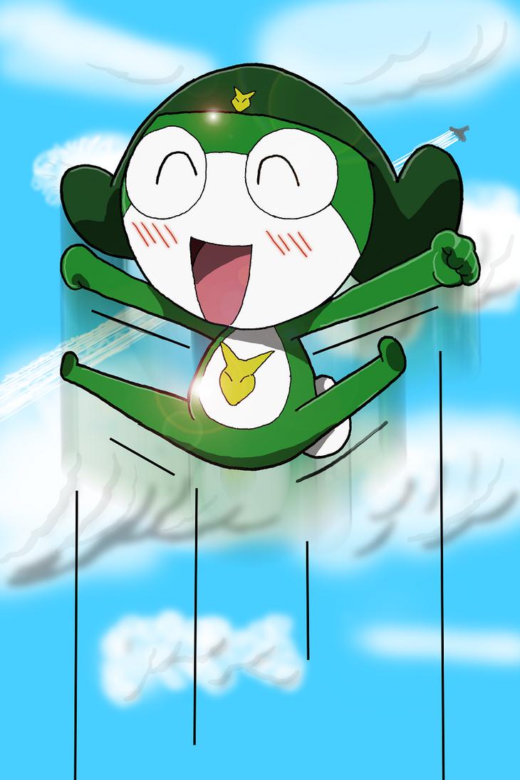 Keaton Jumping Colored by KeatonKitsune