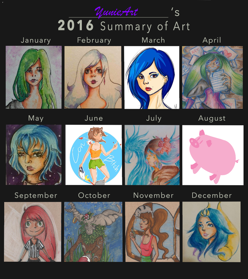 2016 Summary Art by YunieArt