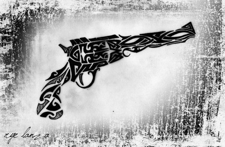 tribal revolver by ryelanza on DeviantArt - photo#6