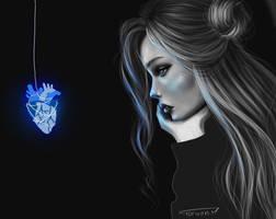 blue heart..