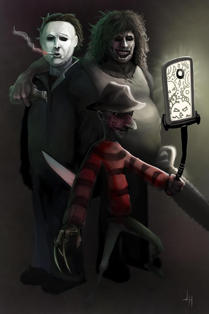 Horror Villain Selfie by JHurlburt