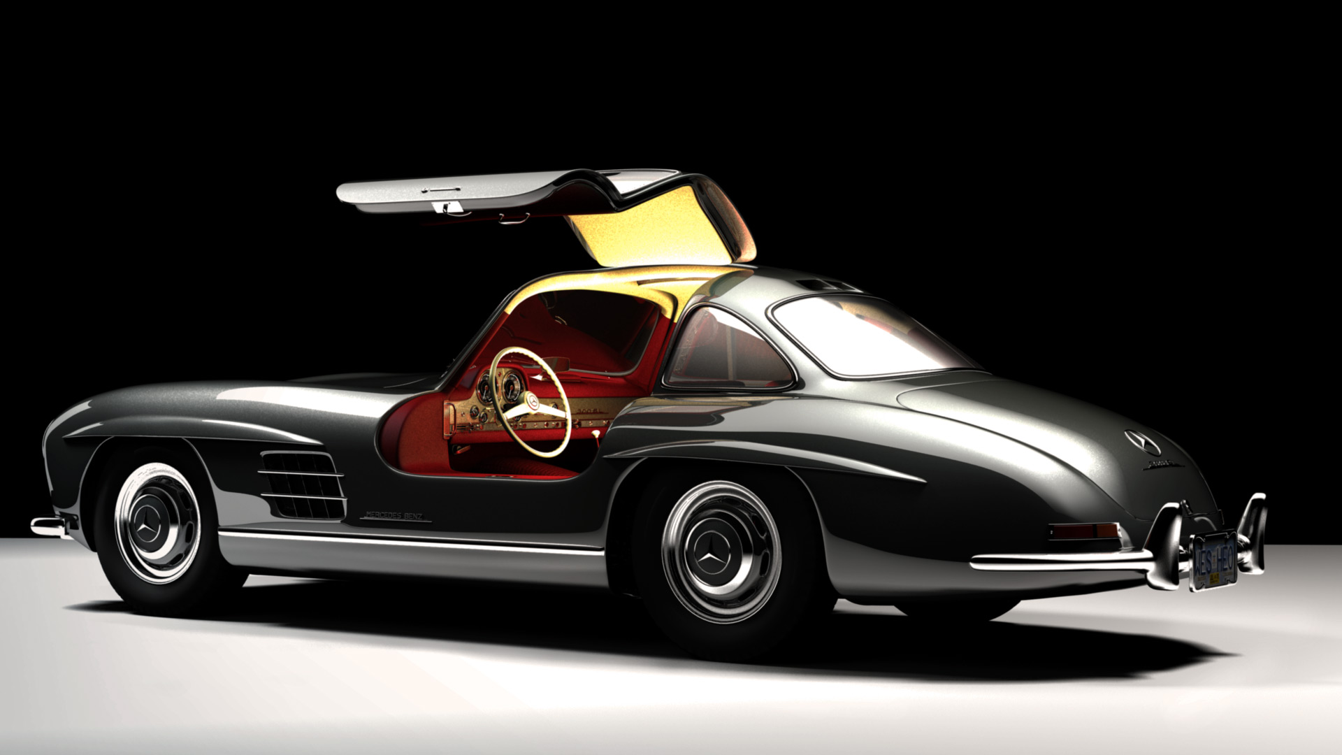 mercedes 300 sl 2 by heozart on deviantart. Black Bedroom Furniture Sets. Home Design Ideas