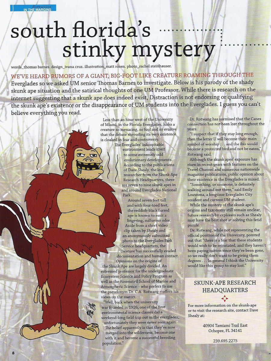 Skunk Ape Illustration by MATTROSENART