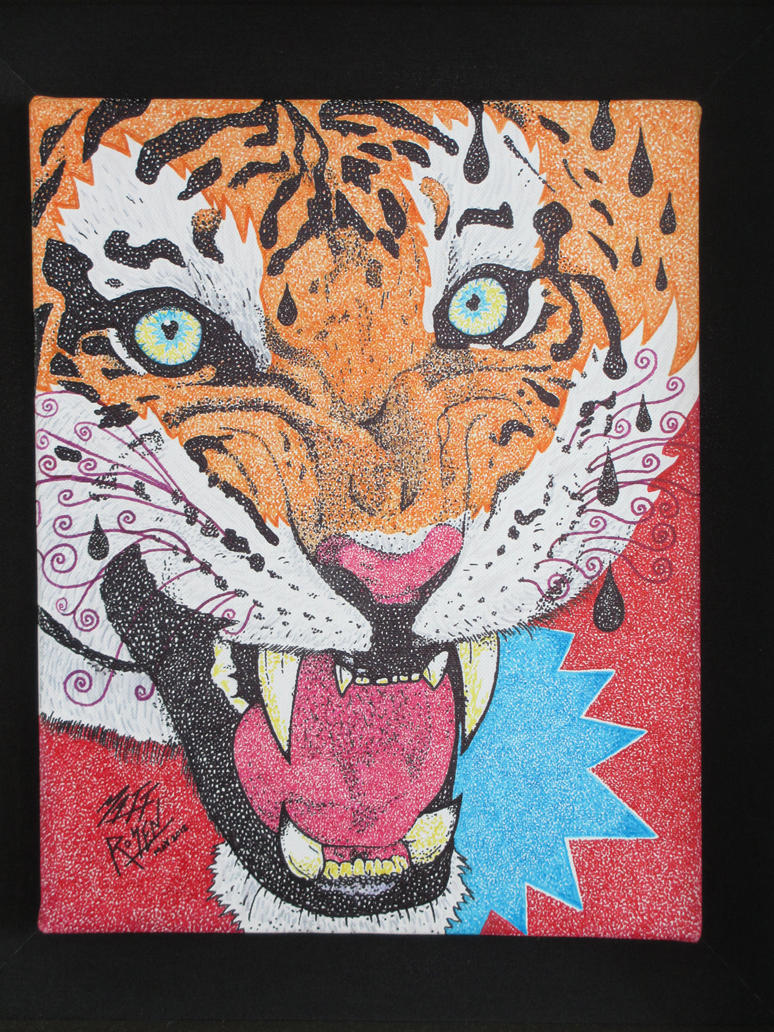TIGER CANVAS by MATTROSENART