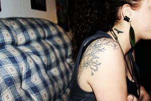 tree tattoo by depthdweller