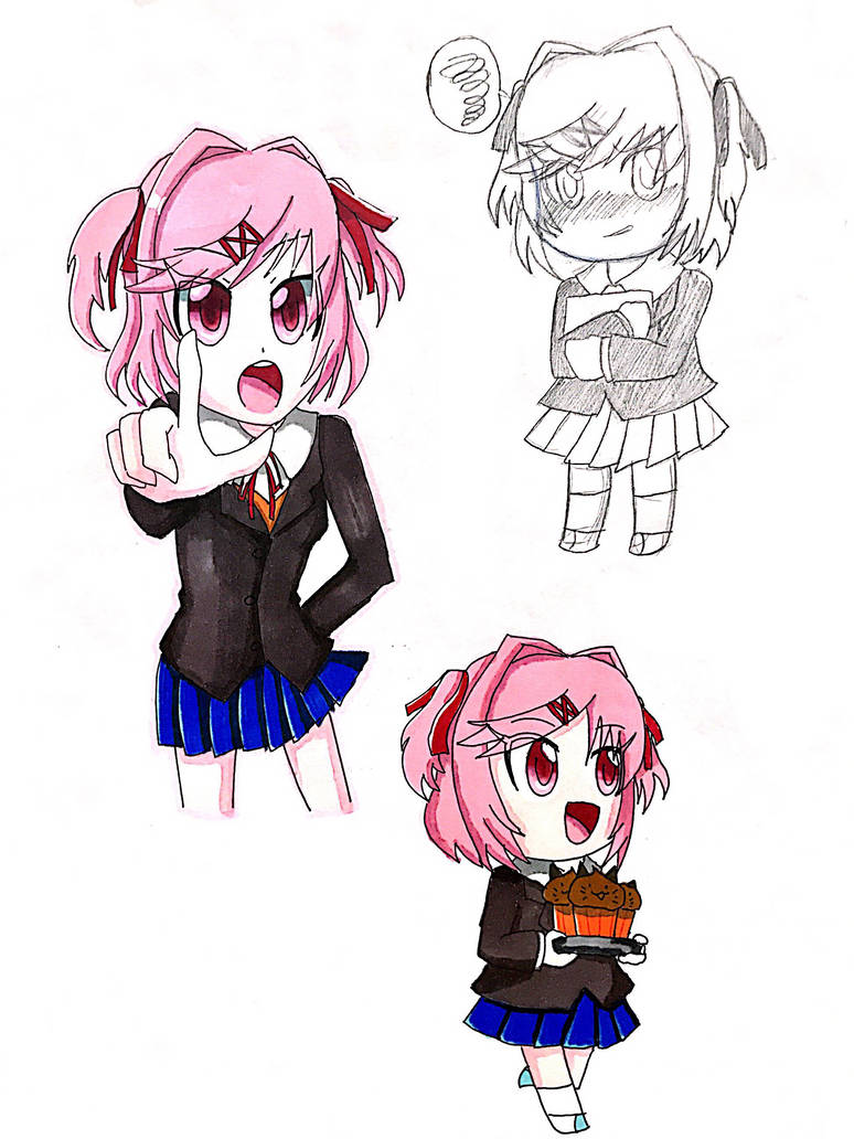 Doodle Natsuki by Yulianne0129