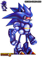 Silver Sonic MKII HD Sprite by GBlastMan