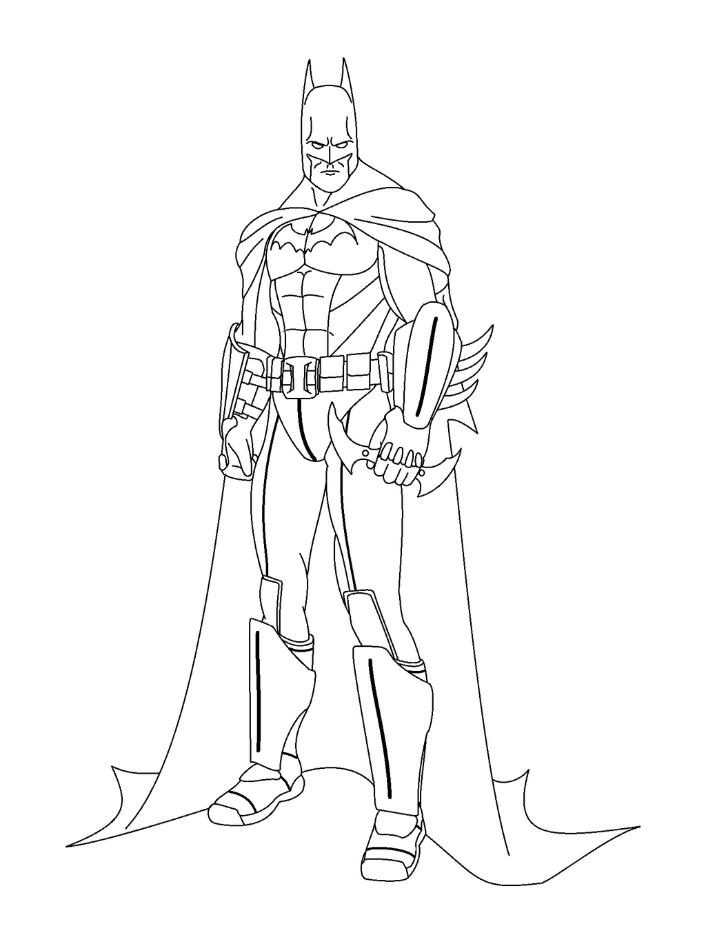 Full Body Coloring Pages Batman Arkham Knight Coloring Pages