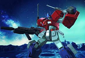 Gundam Breaker 3 - TF-84 Convoy (Optimus Prime) by Varia31