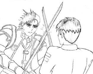 (REQUEST) Reiji Arisu training Chance Thompson by Varia31
