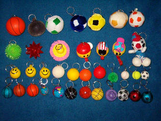 Key Chains - Balls 2 by breloczkowo