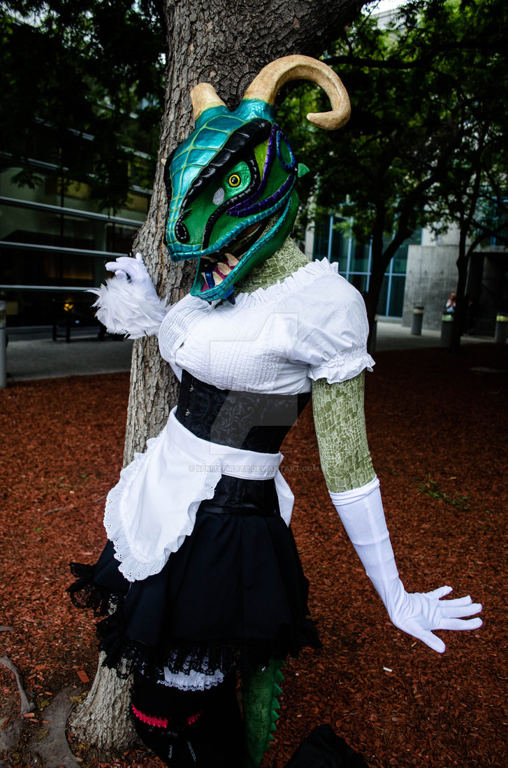 The Lusty Argonian Maid by ArshesNei8