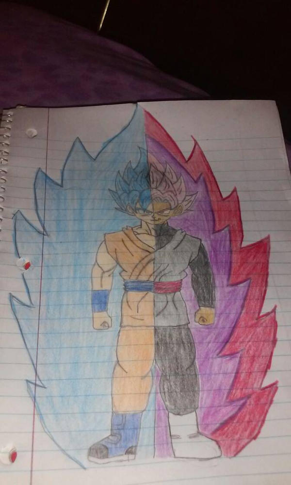 Goku/Black Power up by primeomega97