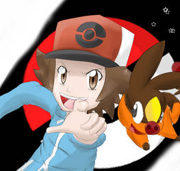 Black and Tepig GO!! by AnarchoTak