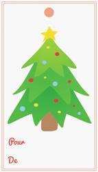 Etiquette pour cadeaux de noel, Chritmas gift card