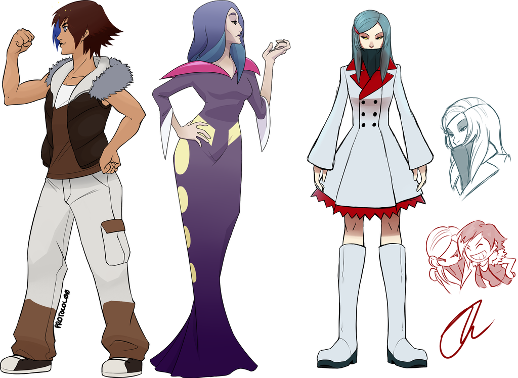 some gijinkas or something, idk by Protocol00