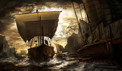 Greek Ship Arrival by matchaTeaPosts