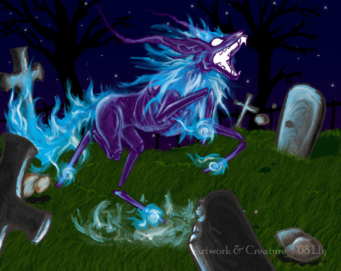 Spectreon - Ghost Eeveelution by ParticleSoup