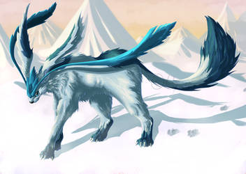 Glaceon by ParticleSoup