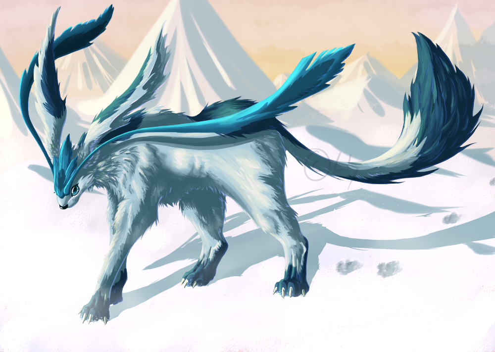 glaceon by particlesoup on - photo #1
