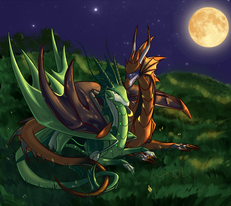 Grass and the Moonlight by ParticleSoup