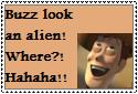 Buzz Look an Alien Stamp by Hunter-Arkaman