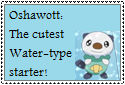 Oshawott Stamp by Hunter-Arkaman