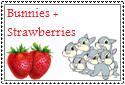 Bunnies + Strawberries Stamp by Hunter-Arkaman
