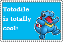 Totodile Stamp by Hunter-Arkaman