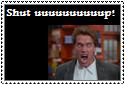 Arnold Shut Up Stamp by Hunter-Arkaman