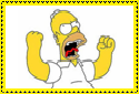 Angry Homer Stamp by Hunter-Arkaman