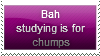 Studying's For Chumps Stamp by Hunter-Arkaman