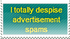 No Advertisement Spams Stamp by Hunter-Arkaman