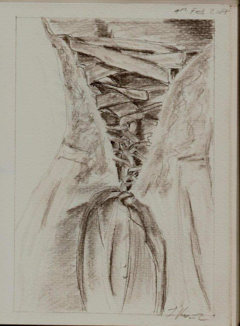 Wedding dress sketch by skarta on deviantart