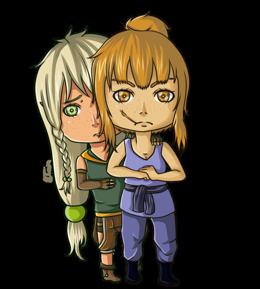 AA: Ryanna + Sithia [Chibi] by Zwei-tan