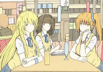 Saya Hikari friends by zetha202