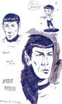 Spock - Ink practice by sparklingblue