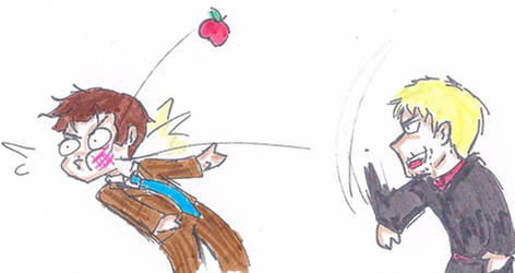 An apple a day... by sparklingblue