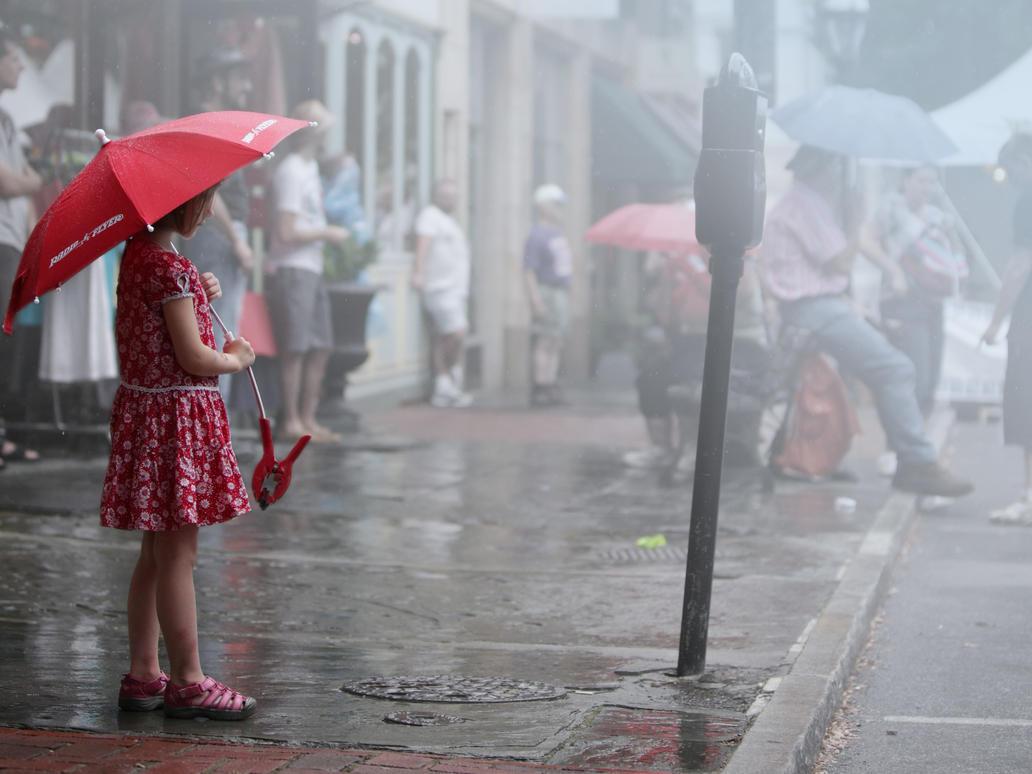 Red Raining Hood by nomoniker