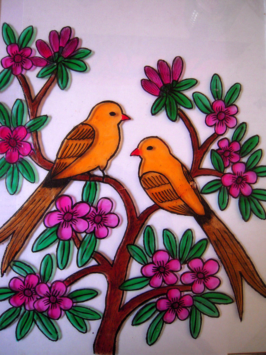 Beautiful Outline Pictures For Glass Painting