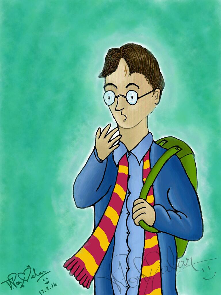 Digital Art - Harry Potter by dr-malar